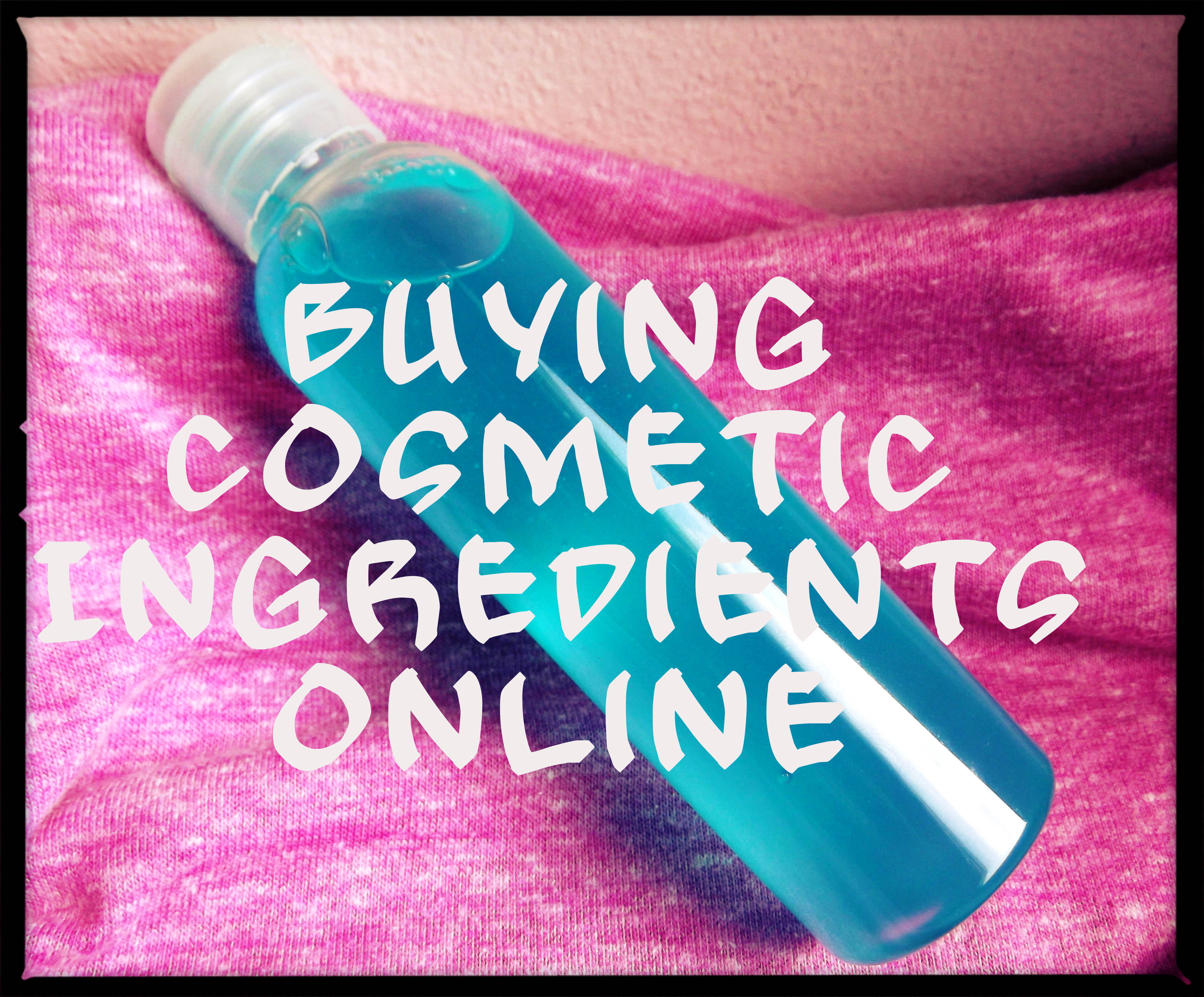 Buying online COSMETIC INGREDIENTS – It's all in my hands