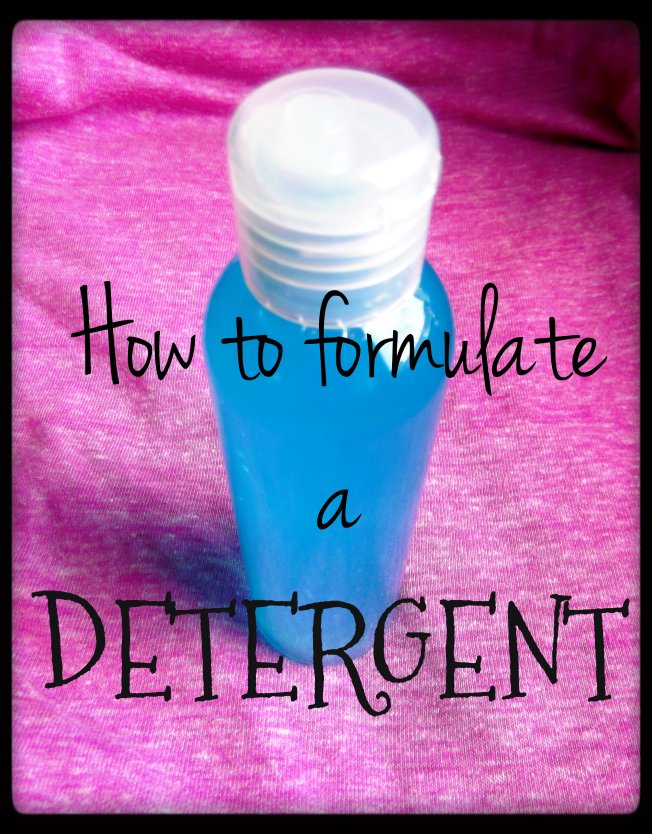 How to formulate a detergent