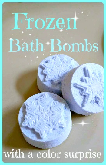 Frozen Bath Bombs DIY